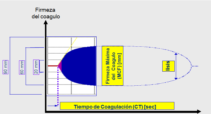 Figura 2. Tromboelastometría.
