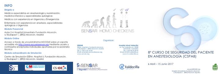 VIII Curso de Seguridad del Paciente en Anestesiología