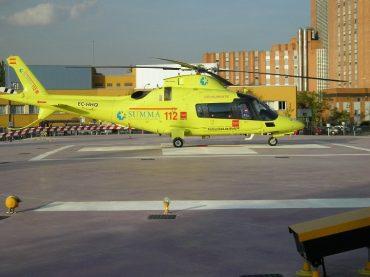 Ilustración 4. Helicóptero sanitario SUMMA112 en helipuerto Hospital 12 de octubre.