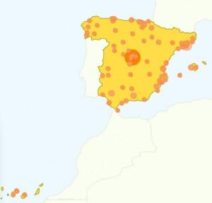 Visitas a AnestesiaR en España (Fuente: GoogleAnalytics)