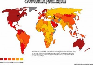 mapa de la felicidad
