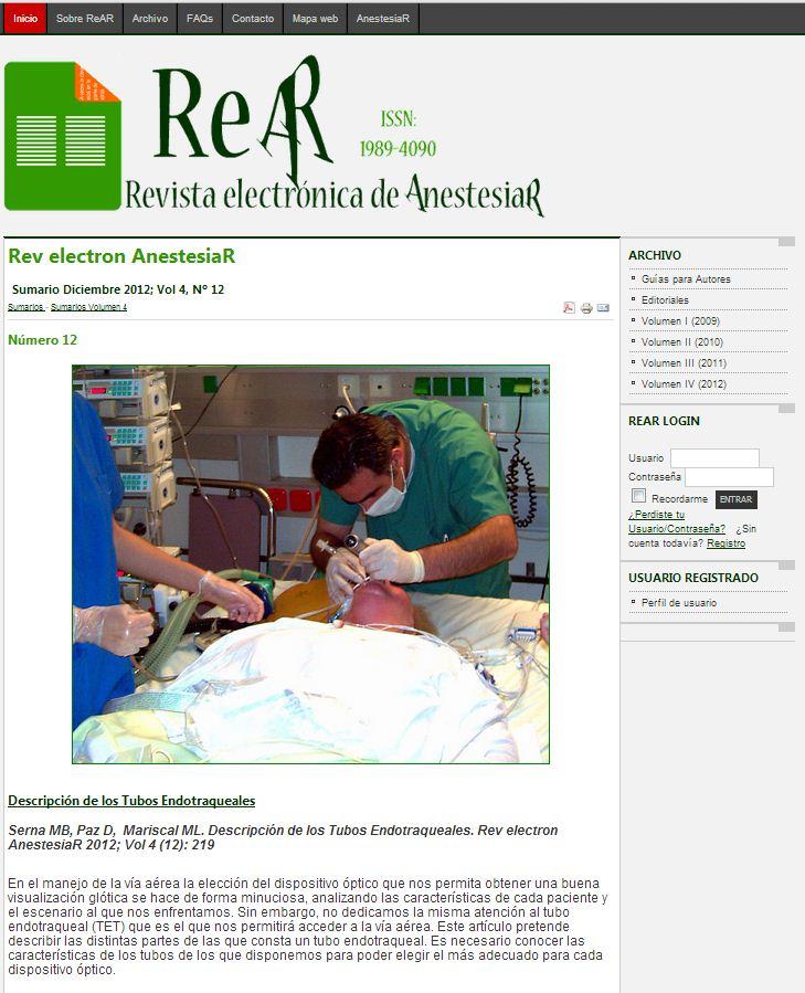 Revista electrónica de AnestesiaR 12/12