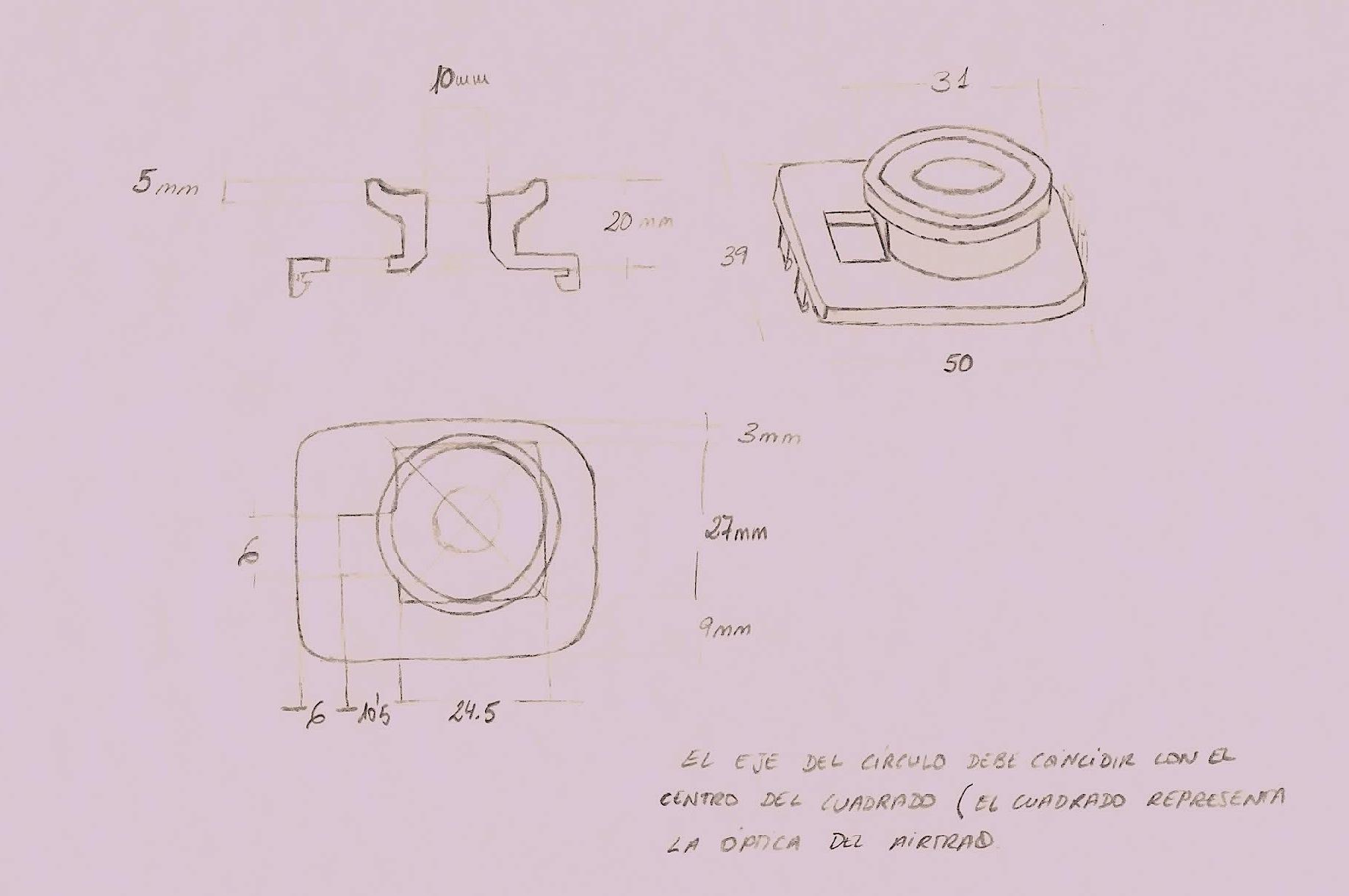 Figura 2.- adaptador de airtraq para cabezal de camara