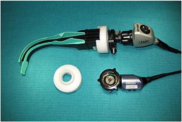 The Airtraq camera adapter. Frank Aldridge