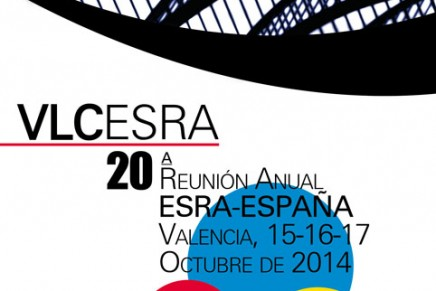 La XX Reunión Anual de ESRA España se celebrará los días 15, 16 y 17 de Octubre de 2014 en Valencia