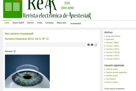 Publicado el número de Diciembre 2013 de la Revista electrónica de AnestesiaR
