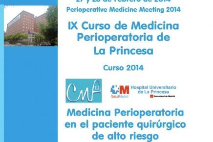 IX Curso de Medicina Perioperatoria de la Princesa