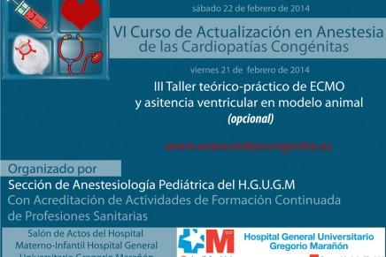 VI Curso de Actualización en Anestesia de las Cardiopatías Congénitas
