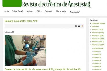 Publicado en abierto el número de Mayo 2014 de la Revista electrónica de AnestesiaR