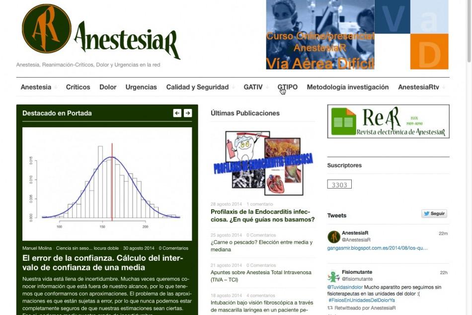 AnestesiaR se hace móvil, nuevas incorporaciones… y mucho más