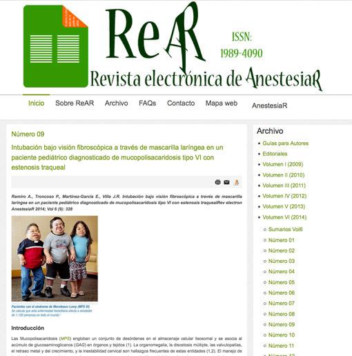 Revista electrónica de AnestesiaR-septiembre-2014
