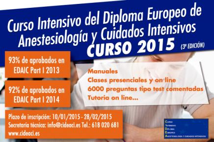 Curso Intensivo del Diploma Europeo de Anestesiología y Cuidados Intensivos 2015