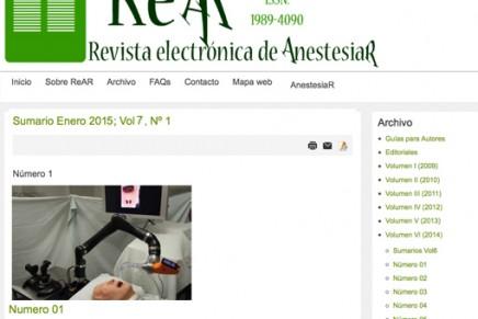 Publicado en abierto el número de Diciembre de 2014 de la Revista electrónica de AnestesiaR REAR