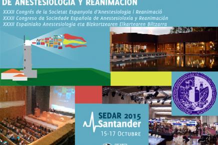 SEDAR2015, la cita de Octubre de la Anestesiología
