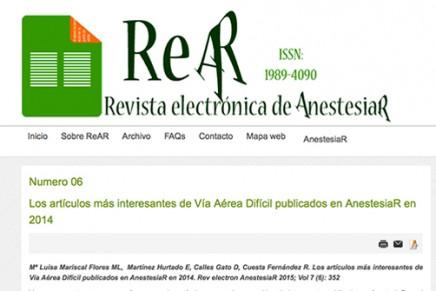 Publicado en abierto el número de Mayo de la ReAR