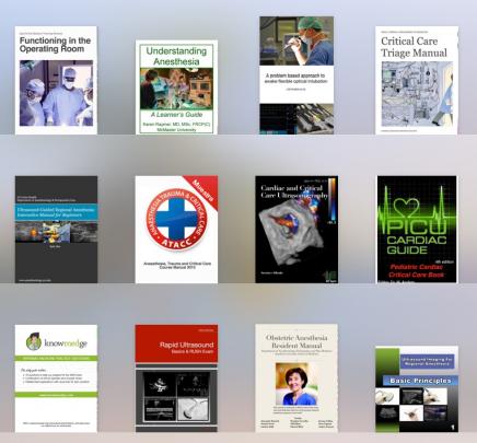 Una pequeña selección de iBooks gratis de Anestesia