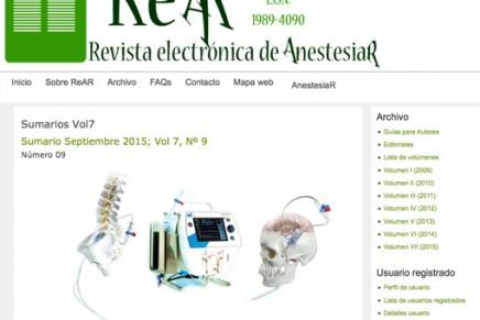 Publicado en abierto el número de septiembre 2015 de la ReAR