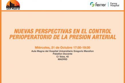 Simposio SAR Madrid sobre nuevas perspectivas en el control perioperatorio de la presión arterial
