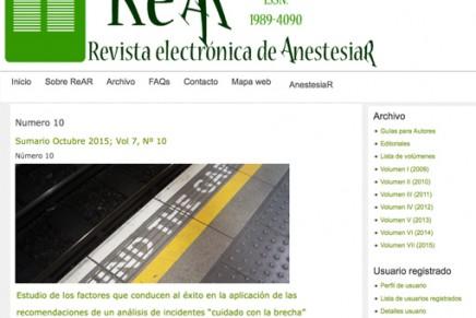 Publicado en abierto el número de octubre 2015 de la ReAR