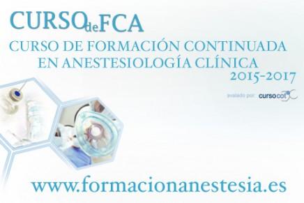 Curso de Formación Continuada en Anestesiología Clínica. FCA