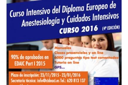 Curso Intensivo del Diploma Europeo de Anestesiología y Cuidados Intensivos