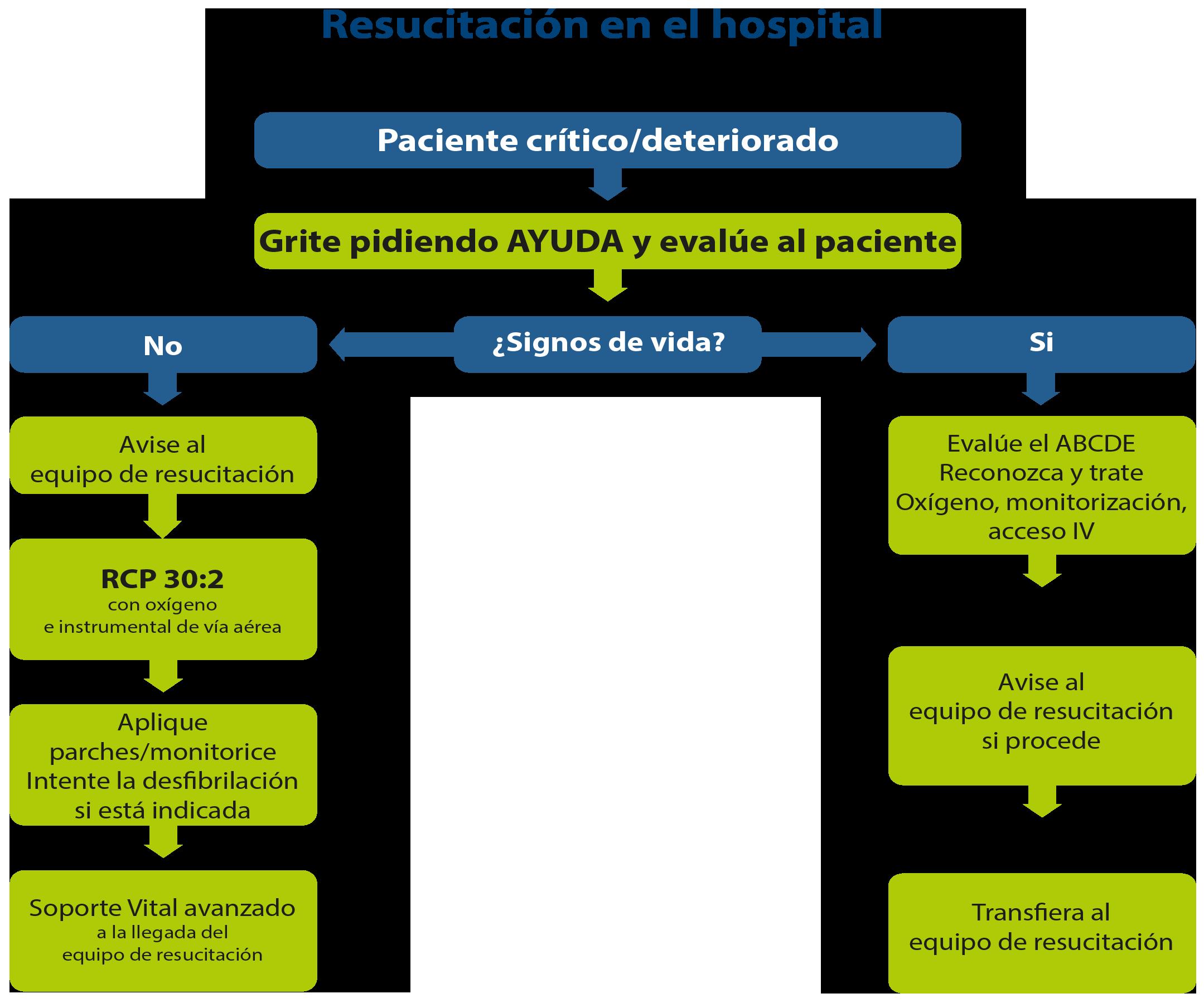 FIGURA 1 - ILCOR 2015 - resucitacion adulto en el hospital