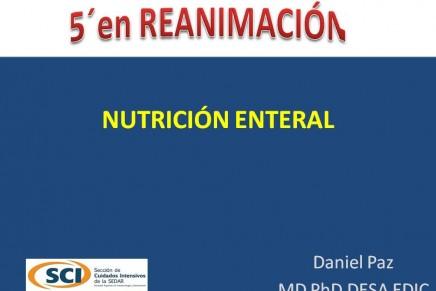 Nutrición enteral – 5 minutos en Reanimación.