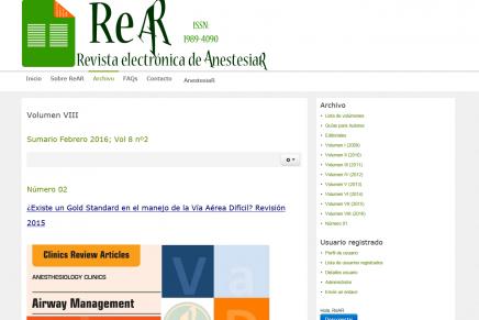 Publicado en abierto el número de febrero 2016 de la ReAR